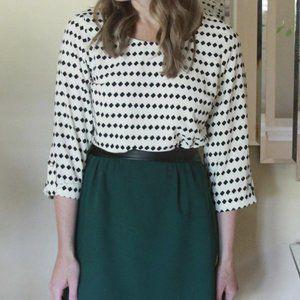 Brixton Ivy Stitch Fix Black & White Blouse Large